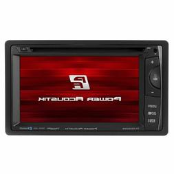 "Power Acoustik PH-620SXMB Double DIN 6.2"" LCD CD/DVD Player"