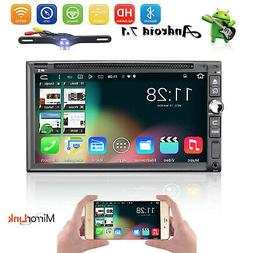 Quad-Core Android 7.1 Car GPS CD DVD Player Stereo Double Di