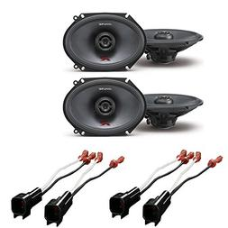 Alpine R-Series 6 x 8 inch 300 Watt Component 2-Way Car Spea
