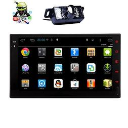 Rear View Camera Quad core Android 5.1 2 Din Car Stereo 7 In