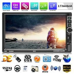 """SWM 7"""" Double 2Din Touch Quad Core Android 7.1 Car GPS MP5 P"""