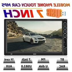 SWM Double 2DIN Car Stereo MP5 Player 7inch Bluetooth USB Ra