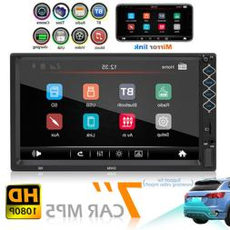 SWM N8 Double 2 DIN Car Stereo 7 inch Touch Screen Bluetooth