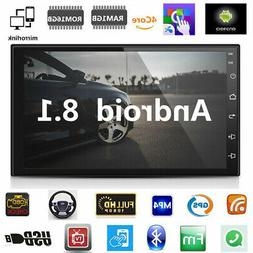 "US 7"" Inch Double Din WIFI Android 8.1 Car Stereo GPS Naviga"