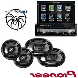 Soundstream VIR-7830B 1 DIN DVD/CD/MP3 Player Flip-Out up Sc