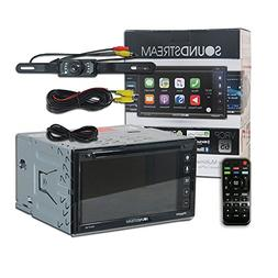 "Soundstream VRCP-65 Double DIN 2-DIN 6.2"" Apple CarPlay DVD"