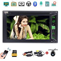 """Wireless Camera as gift 6.2"""" Touchscreen In Dash Double DIN"""
